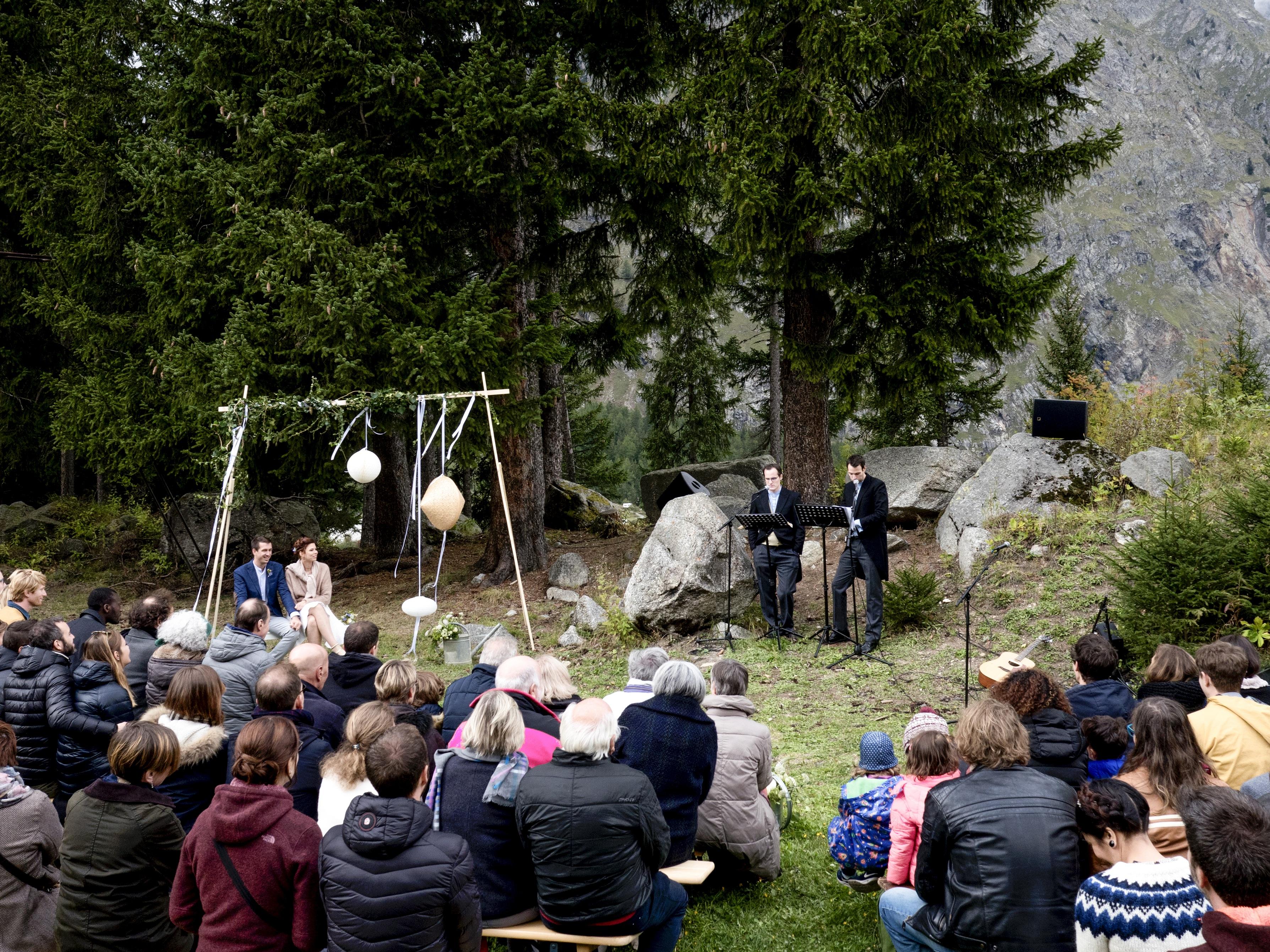 cérémonie laïque montagne, mariage valais, mariage nature