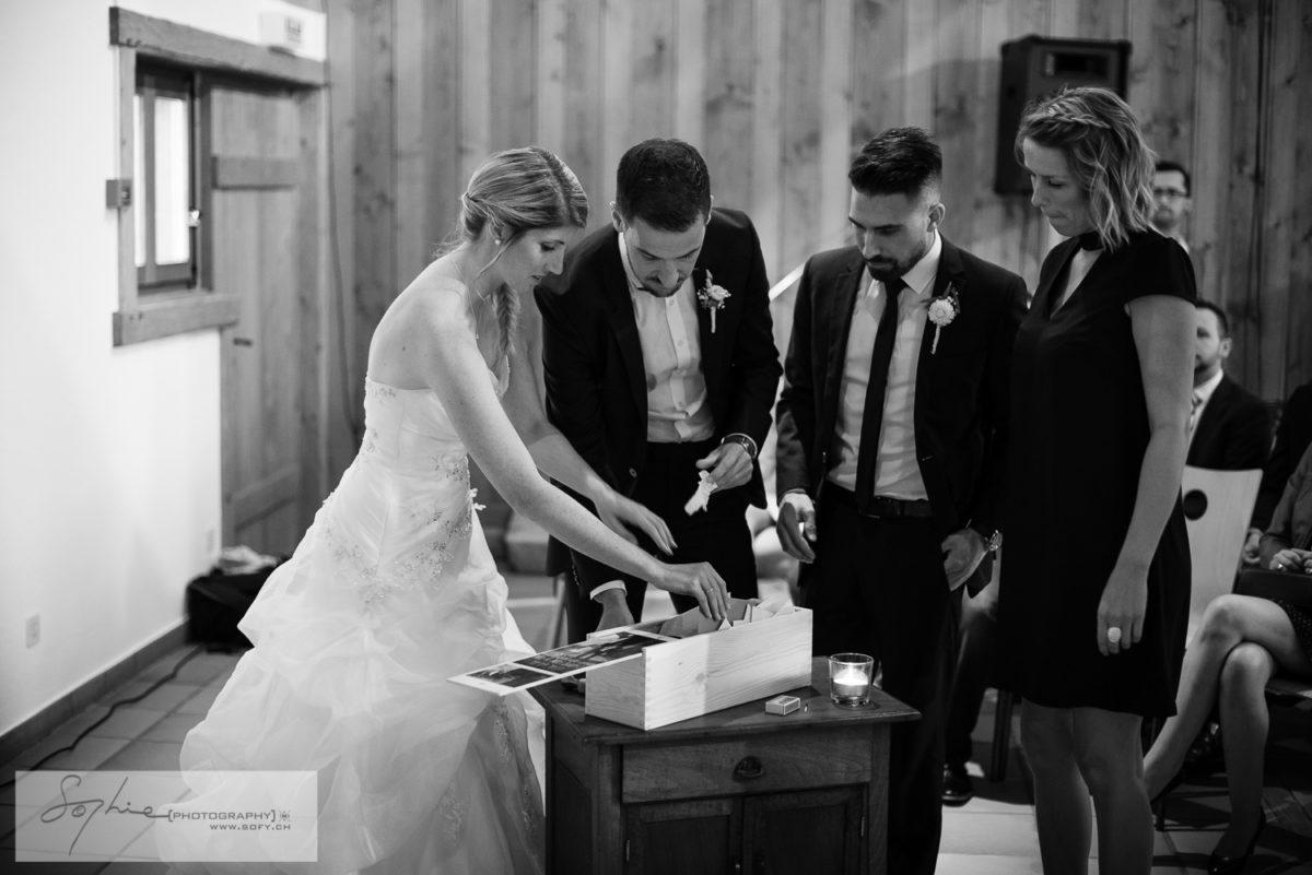 Rituel symbolique, cérémonie laïque, mariage gruyère, témoins
