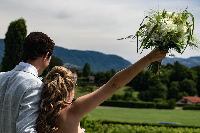 mariage France, mariés, bouquet mariage, couple mariés